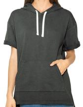 Unisex French Terry Garment Dyed Kangaroo Pocket S/S Hoodie